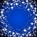 Round sparkle frame Royalty Free Stock Images