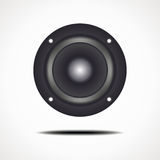 Round speaker. Vector format. For the musical theme Stock Images