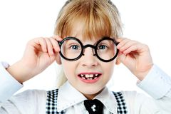 Round spectacles Stock Photos