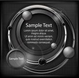 Speech bubble & text on mash Royalty Free Stock Photo