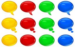 Round speech bubbles Stock Photo