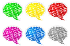 Round speech bubbles Royalty Free Stock Photo