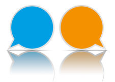 2 Round Speech Bubbles. On the white background vector illustration