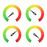 Round speed progress bar vector icon. S set Royalty Free Stock Images