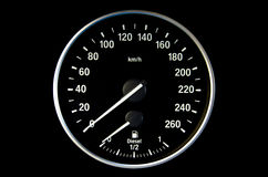 Round speedometer Stock Photography