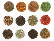 Round spices Royalty Free Stock Images