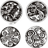 Round spiral designs Royalty Free Stock Images
