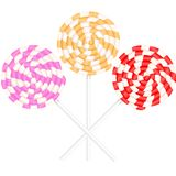 A round spiral lollipop, a set of spirals of red, orange and pink. Flat design,  illustration Stock Photography