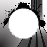 Round splats template Stock Photography