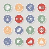 Round Sports Icons. Vector Illustration Royalty Free Stock Image