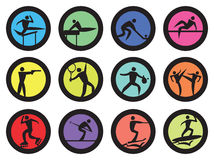 Round Sports Vector Icon Set Royalty Free Stock Photo