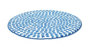 Round spotted carpet on background. Round spotted carpet on white background royalty free stock photos