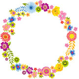 Round Spring Flower Frame Stock Images
