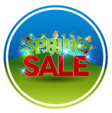 Round spring sale symbol Royalty Free Stock Image
