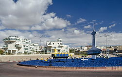The round square in Eilat, Israel Royalty Free Stock Photo