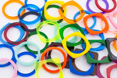 Round and Square Shape Plastic Rings Stock Images