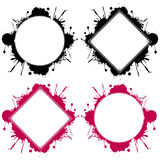 Round and square templates Stock Photo