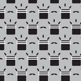 Round square with white line and oval pattern background Royalty Free Stock Images