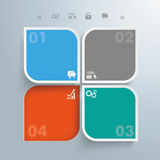 Round Squares 4 Options Hole. Template rectangles design on the gray background vector illustration