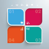Round Squares 4 Options 2 Holes. Template rectangles design on the gray background vector illustration