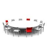 Round stół Zdjęcia Stock