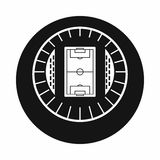 Round stadium top view icon, simple style. Round stadium top view icon in simple style on a white background vector illustration Royalty Free Stock Images