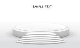 Round stage. Vector illustration of podium  on white Royalty Free Stock Images
