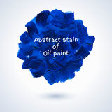 Round stain of oil paint. Stock Photography