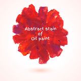 Round stain of oil paint. Royalty Free Stock Image