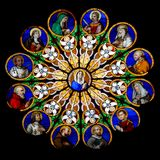 Round Stained Glass - Mary Royalty Free Stock Photos