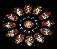 Round stained glass window. Coulorfull round stained glass window from Arundel Cathedral Royalty Free Stock Image
