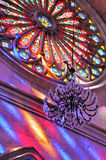 Round Stained Glass Window Of Church Royalty Free Stock Image