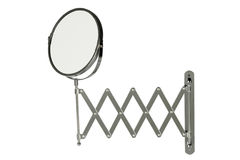 Round stainless steel magnifying mirror Royalty Free Stock Images