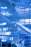 Round staircase. In office centre Stock Image