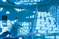 Round staircase. In office centre Royalty Free Stock Image