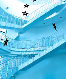 Round staircase. In office centre Royalty Free Stock Photography