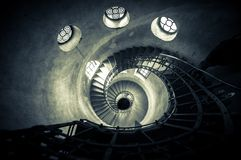 Round stairs in a church Stock Image
