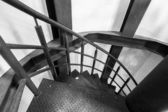 Round stairs in old metal Stock Images