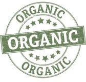 Organic round grunge green stamp. ROUND STAMP IN GRUNGY STYLE Royalty Free Illustration