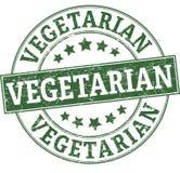 Vegetarian round stamp. Round stamp in retro style Stock Photos