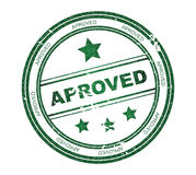 Round stamp with text: Approved Royalty Free Stock Images