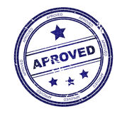 Round stamp with text: Approved Stock Images
