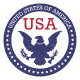 Round stamp of United States of America- USA. Round grunge stamp of United States of America- USA. Vector Stock Photography