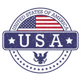 Round stamp of United States of America- USA Royalty Free Stock Photo