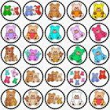 Round stamps with teddies Royalty Free Stock Photo