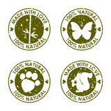 Round stary zniekształcający wektoru znaczka set dla use w projekcie Zdjęcie Royalty Free