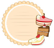 A round stationery with cakes Stock Photography