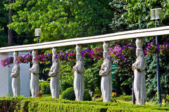 Round of statues Stock Photo