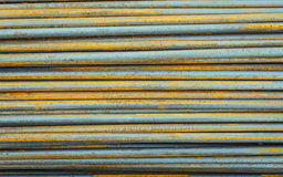 Round steel bars used to reinforce concrete Royalty Free Stock Photography