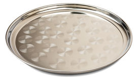 Round steel tray Stock Photography